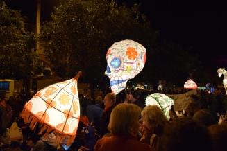 Skull and Umbrella Lanterns